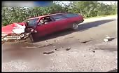 Violent Motorcyclists And Car Crash In Russia