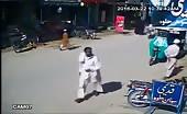 CCTV Footage Of Target Killing