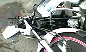 Two Motorcyclists Crushed