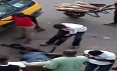 Thief Being Dealt With By A Mob In Lagos