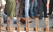 Brutally Lynched Thief By Victim On Railway Station