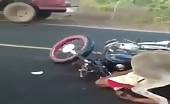 Biker Crashes Into Donkey
