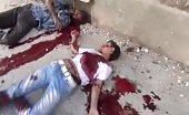 Aftermath footage of Massacre Of Syrian Town