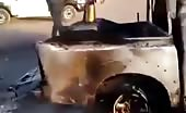 ISIL Man Burning in Fire
