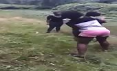 Black Hoes Fighting In Backyard!