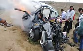 Car Accident And Burning