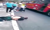 Biker Foot Crushed