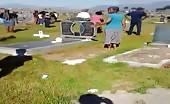 Black Fat Woman Dancing Naked In Graveyard