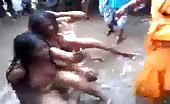 Indian Women Are Beaten Naked In Public
