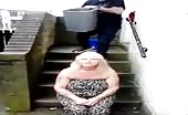 Ice bucket fail with mature german woman